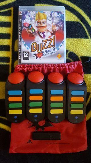 Juego Ps3 Buzz el Multiconcurso + mandos