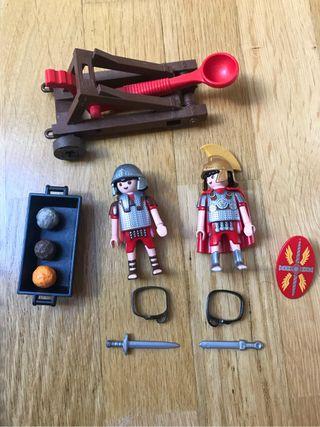 Playmobil soldados romanos catapulta 4278