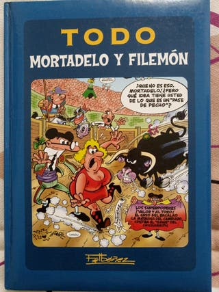 Libro Mortadelo y Filemón. Tapa dura. 5 comics