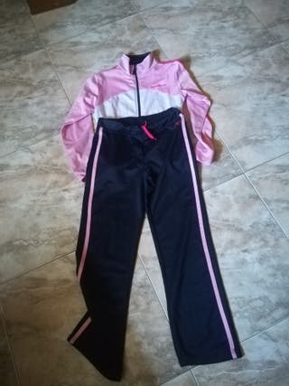chándal niña en color rosa y azul.