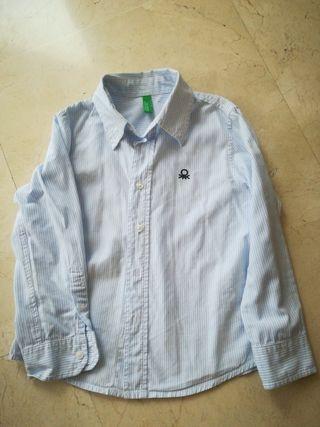 camisa niño benetton t. 4