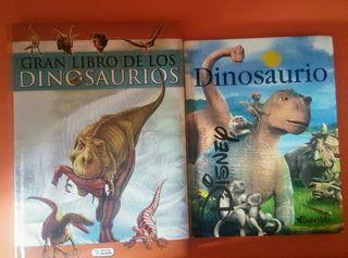 lote 2 libros de dinosaurios