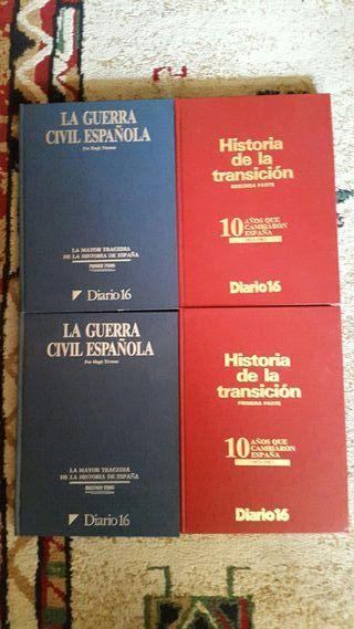 libros guerra civil y transicion de diario 16