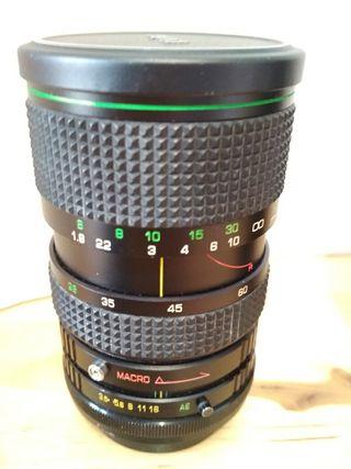 Objetivos FD Vivitar + adaptador FD<>Canon EOS