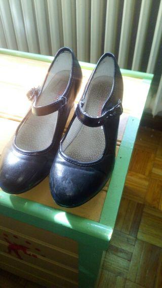 zapatos niña, baile español con tacón