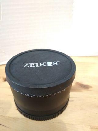 Lente duplicador focal objetivos 58 mm de diametro