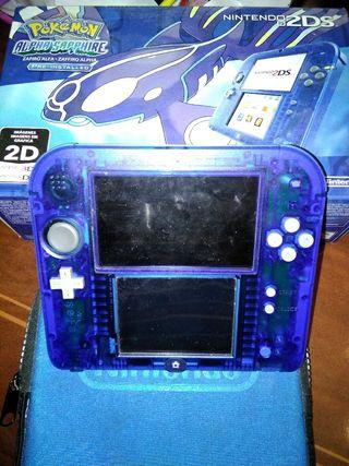Nintendo 2ds con tres juegos