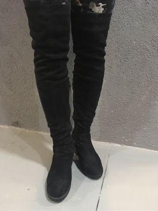Botas altas de piel
