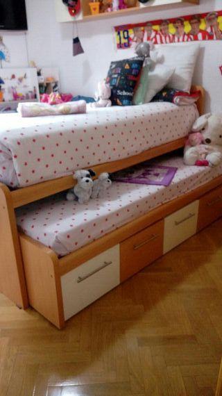 cama nido y complemento habitacion