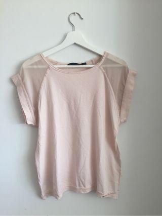 Camiseta rosa Calvin klein