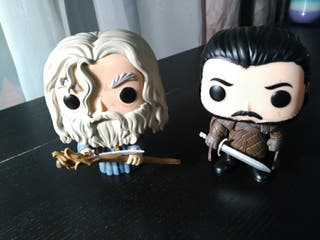 Funko pop Gandalf and John Snow (with box)