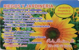RIEGOS Y JARDINERIA