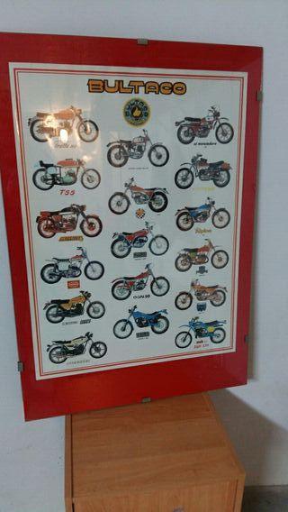Poster enmarcado Bultaco