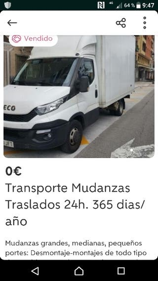 MUDANZAS TRANSPORTES TRASLADOS 24h