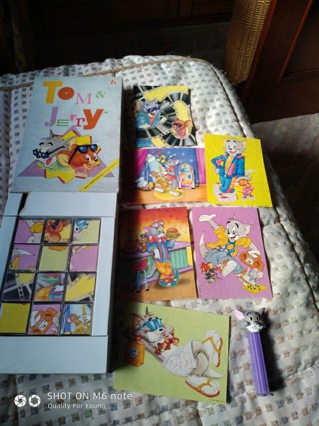 Tom Y Jerry Juego Mesa Mini Rompecabezas Puzzle 90 De Segunda Mano