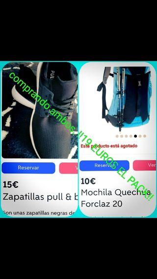 pack mochila y zapatillas