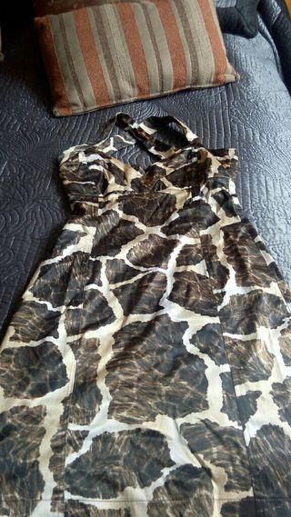 vestido estampado cebra