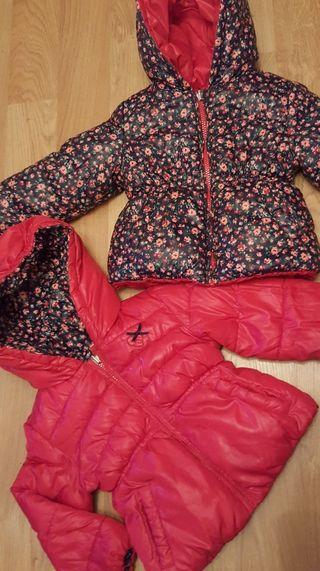 2 abrigos del corte ingles talla 2 años reversible