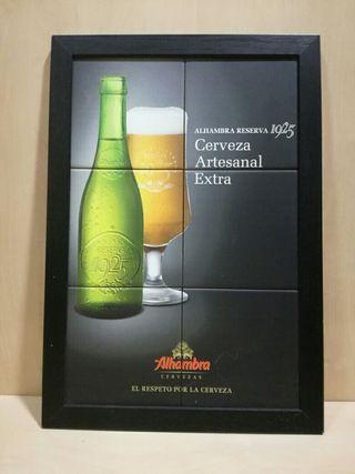 Cuadro publicidad cerveza Alhambra