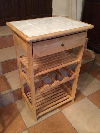 Mueble de cocina con azulejos