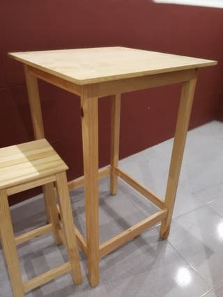 mesa alta de pino