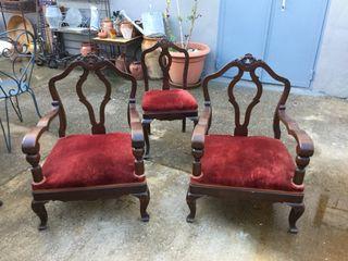 Pareja de sillones y silla