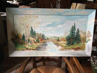 Cuadro pintura paisaje