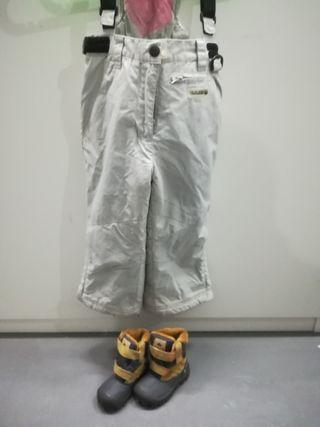 Pantalón y botas de nieve