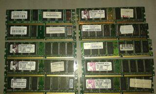 memoria ram DDR 400 y de 1 g y 512