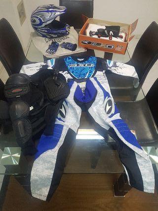 Equipación infantil moto,quad...