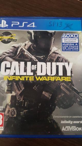 call of duty infinite warfare para ps4 varios ejem