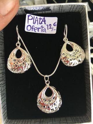 Conjunto plata 925 oferta