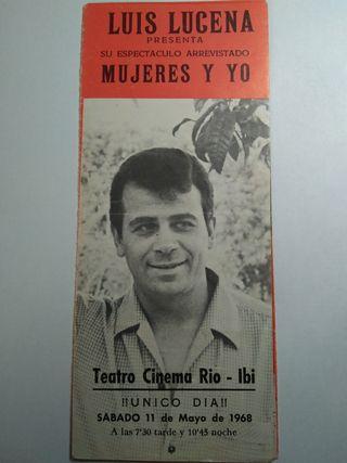 folleto de mano teatro Cinema Rio-ibi 1968