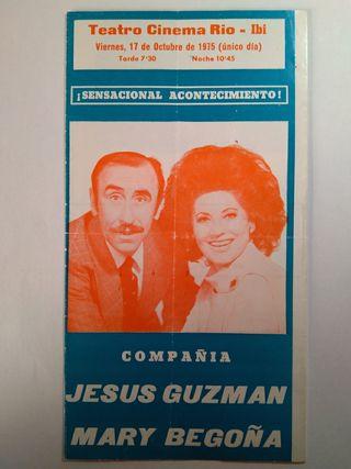 folleto teatro Rio-ibi 1975