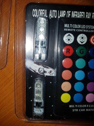 bonbillas de posicion led con mando varios colores