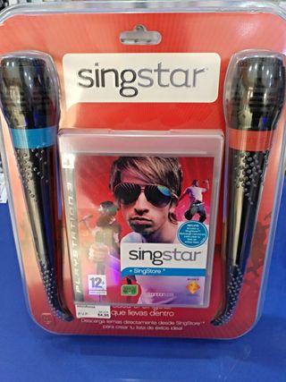 singstar ps3 y dos micrófonos