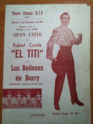 programa de mano teatro Rio Ibi año 1964