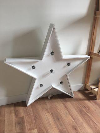 Estrella luminosa para bodas