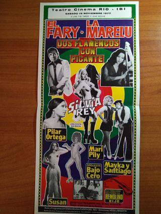 folleto de mano. Gran espectáculo en ibi 1977