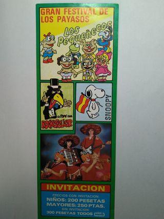 Festival de payasos Los Pequeñecos 1989 Ibi