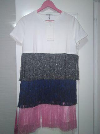 Zara Vestido Por 10 Flecos Mano Segunda De € Roquetas En Yf67bgyv