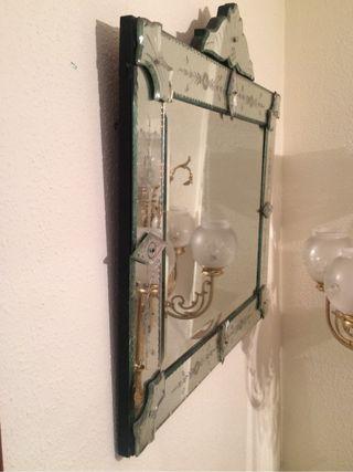 Antiguo espejo veneciano 1915