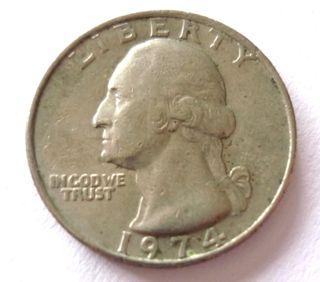 Quarter Dollar United States of America año 1974