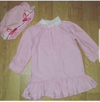 vestido ralp lauren talla 18 meses