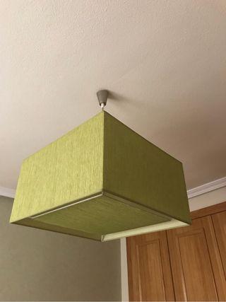 Lámpara verde 45x45x25cm