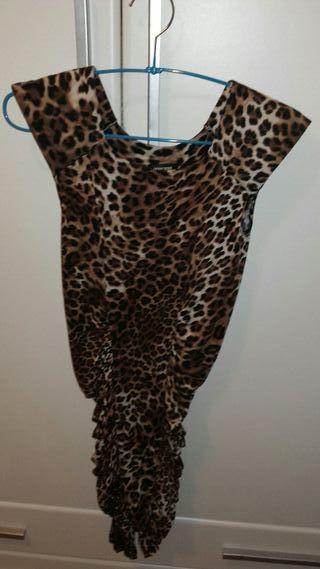 Vestido ajustado Print Animal