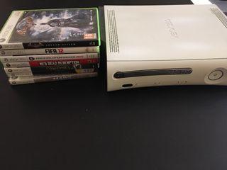 Consola xbox 360 + 7 juegos