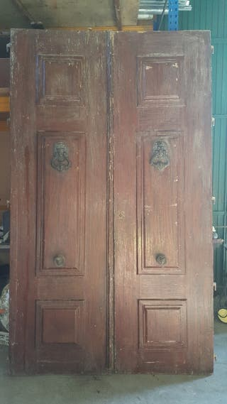 Puertas de madera antiguas de segunda mano en wallapop for Puertas de paso segunda mano