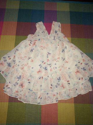 vestido de gasa talla 4-5 años