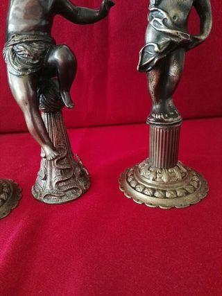 candelabros y Ángel antiguos